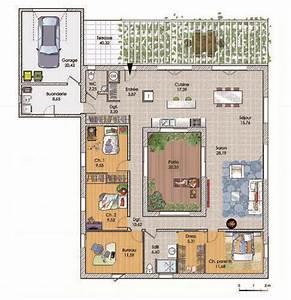 Plan Grande Maison : une grande maison de plain pied plan maison maison plain pied plan maison et construire sa ~ Melissatoandfro.com Idées de Décoration