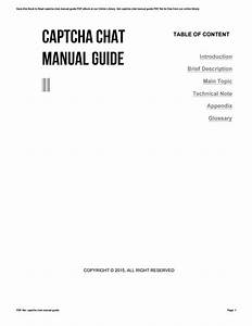 Captcha Chat Manual Guide By Ty172
