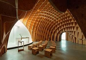 MOTORWAY CHURCH EGGER Wood-based materials Archinect