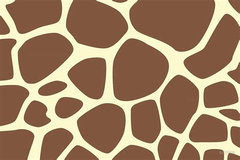Animal Print Wallpaper Giraffe - quot animal print giraffe pattern brown yellow quot by