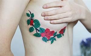 Flores Rosas y Espinas Tatuajes para Mujeres