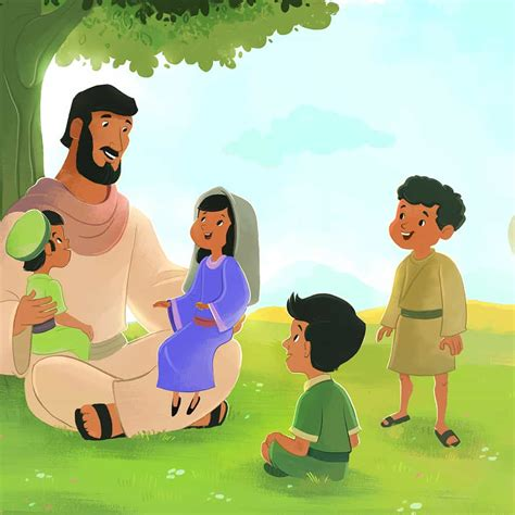 jesus blessed  children bible lesson  children