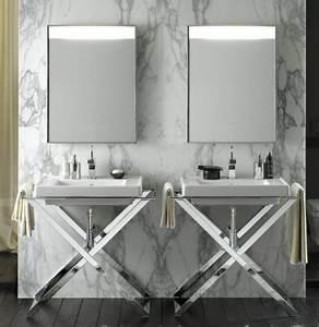 salles de bain aubade 2014 le catalogue 20 photos With salle de bain design avec meuble lavabo sur pied
