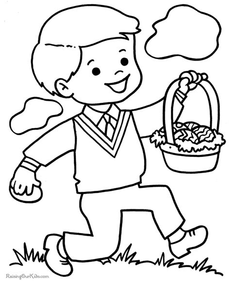 Preschool Easter Coloring Pages  Coloring Home