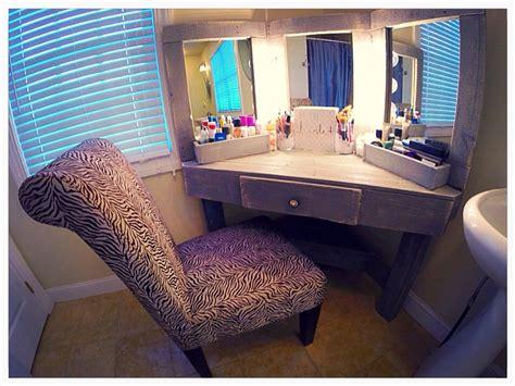 corner makeup vanity table corner makeup vanity with mirror