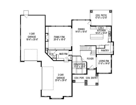 Contemporary Style House Plan 6 Beds 3 5 Baths 4938 Sq