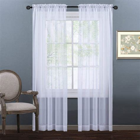 sheer curtain panels nicetown sheer curtain panels ease bedding with style