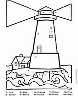Coloring Lighthouse Adults Simple sketch template