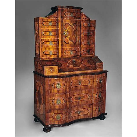 bureau commode 18th c baroque tabernacle bureau commode from