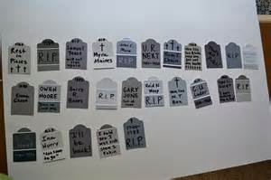 Cool Halloween Tombstone Names by Tombstone For Halloween Quotes Quotesgram