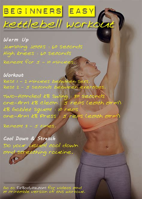 workout beginners kettlebells kettlebell guide workouts print beginner exercises fitbodyhq kettle bell easy strength ball bells
