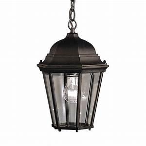 Kichler madison in black outdoor pendant light