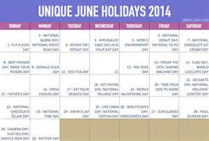 unique june holidays our days