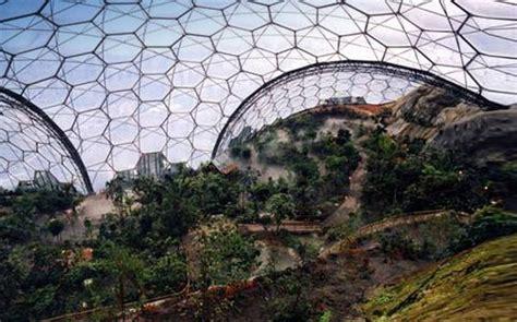 eden project giant bubble biomes form  worlds largest