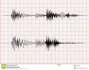 Earthquake Wave Graph Stock Vector  Image Of Grid