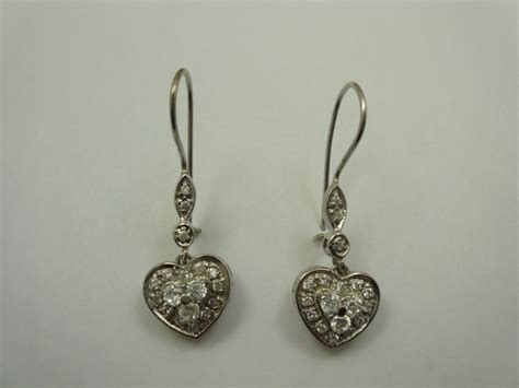 sterling silver rhodium cz dangle chandelier earrings ebay