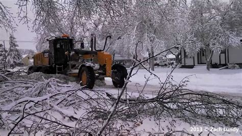 sioux falls ice storm plowing youtube