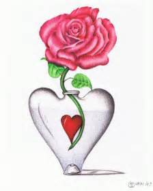 Hearts and Roses Drawings
