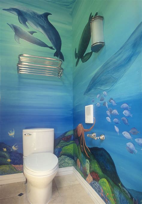 Bathroom Mural Ideas by Underwater Bathroom Mural By Gingold For The Home