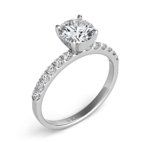 engagement ring mount 12 diamonds