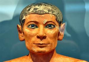 The Scribe is an ancient Egyptian painted limestone ...