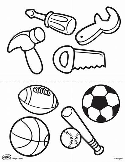 Coloring Tools Sports Pages Crayola Printable Tool
