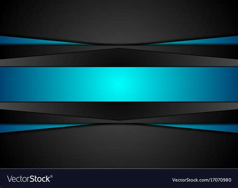 Abstract Black Vector Background by Black And Blue Abstract Tech Corporate Background Vector Image