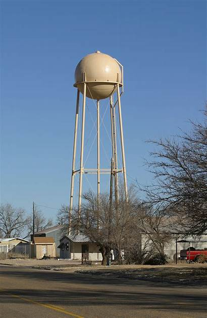 Texas Center Cotton Tower Water Funeral Unincorporated