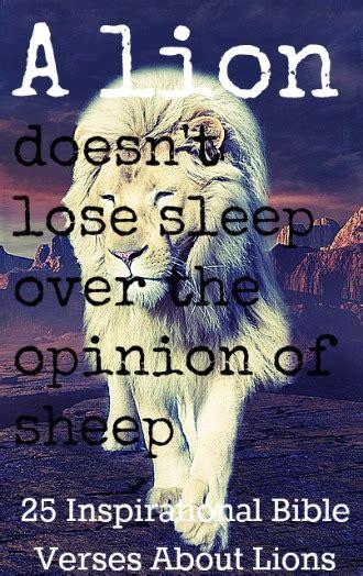 inspirational bible verses  lions
