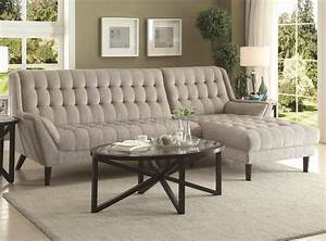 natalia sectional sofa 503777 in dove grey fabric by coaster With dove grey sectional sofa