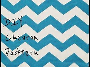 diy paint a chevron pattern from scratch youtube With how to make a chevron template