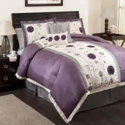 Purple and Grey Comforter Sets
