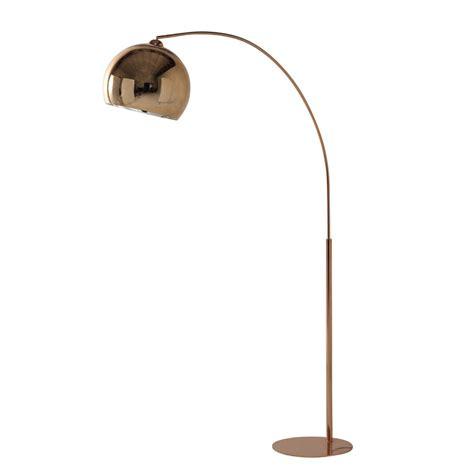 lampadaire en metal cuivre  plexi   cm sphere copper maisons du monde