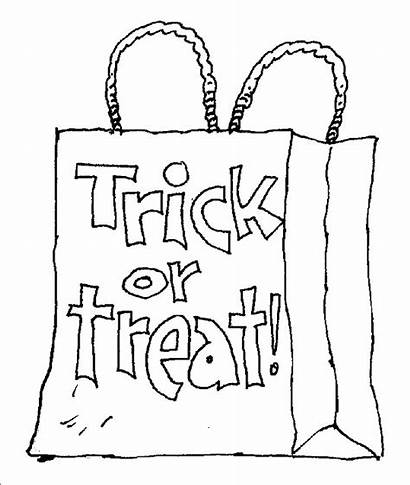 Coloring Halloween Pages Trick Treat Themed Bag