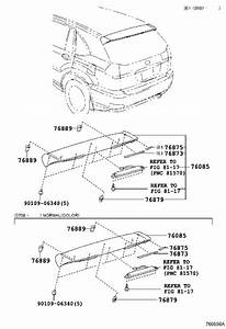 Lexus Rx 400h Spoiler Sub-assembly  Rear