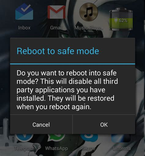 how to turn safe mode on android how to reboot into safe mode in android hexamob