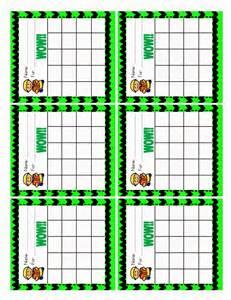 Classroom Behavior Sticker Chart