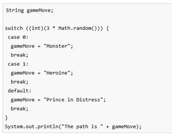 switch statement  java  syntax studycom