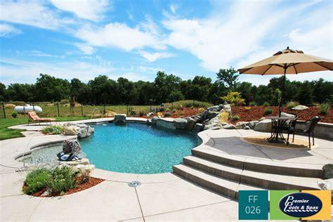 Backyard Swimming Pool by Freeform Swimming Pools Premier Pools Spas