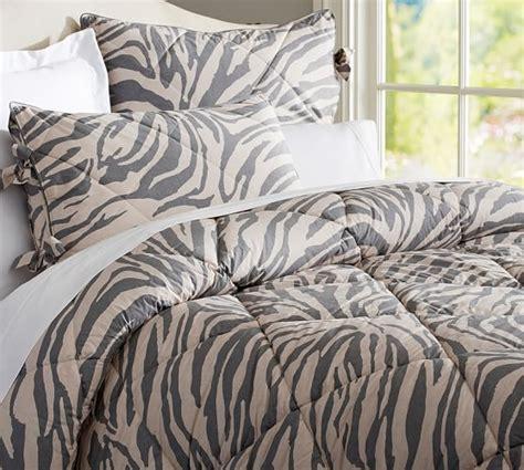 Pottery Barn Grey Bedding by Gray Zebra Comforter Sham Pottery Barn