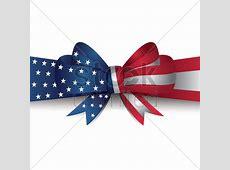 Usa flag ribbon bow Vector Image 1512284 StockUnlimited
