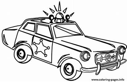 Coloring Pages Suv Police Printable Getcolorings Stylish