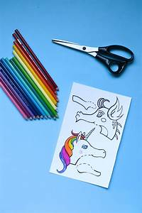 Dragon And Unicorn Clothespin Puppets With Free Printable