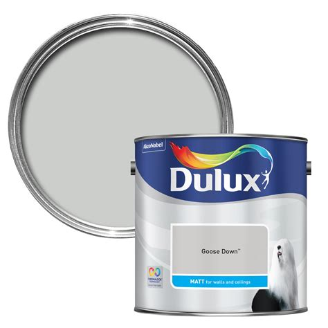Paint Colour Ideas For Kitchen - dulux goose down matt emulsion paint 2 5l departments diy at b q