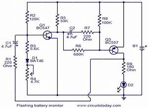 Flashing Battery Monitor