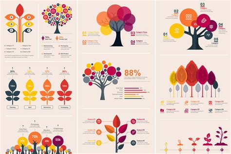 vector tree infographic elements template  contestdesign