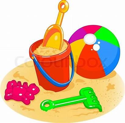 Ball Cartoon Pail Sand Shovel Toys Plage