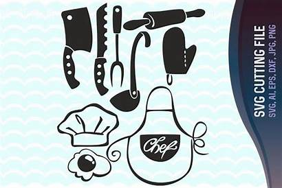 Svg Kitchen Clipart Cooking Vector Silhouette Cook