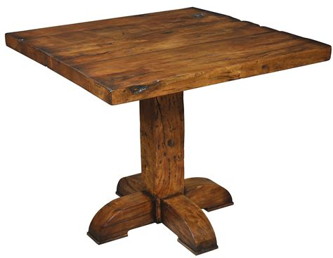 pub table solid wood 42 quot square pub table solid fruit wood rustic old bar style