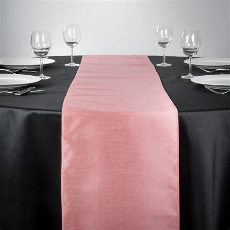 14 x 108 in. Shantung Silk Table Runner Pink